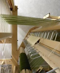 Installation du tissage sur le métier