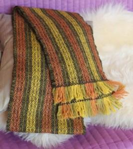 Echarpe en laine et teinture végétale
